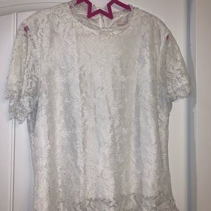 Laundry by Shelli Segway - White lace top